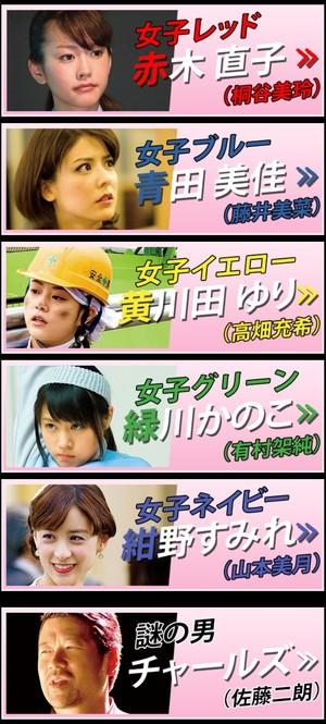 映画『女子ーズ』相関図