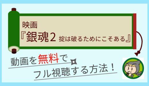 銀魂2実写映画の動画配信を無料でフル視聴する方法まとめ!